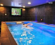 Amazing Small Indoor Pool Design Ideas 42 image is part of Amazing Small Indoor Swimming Pool Design Ideas gallery, you can read and see another amazing image Amazing Small Indoor Swimming Pool Design Ideas on website Indoor Pools, Small Indoor Pool, Basement Gym, Basement Renovations, Basement Ideas, Casa Rock, Piscina Interior, Modern Pools, Saunas