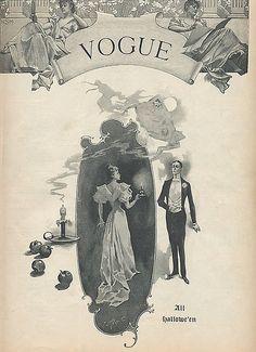Cover of Vogue Magazine 1893-Halloween by dragonflydesignstudio, via Flickr