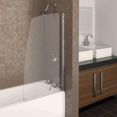 Buy Aqualux Aquarius Half Framed Sail Shower Screen from our Shower & Bath Screens range at John Lewis & Partners. Bath Shower Screens, Shower Taps, Modern Kitchen Design, Bathroom Fixtures, Little Houses, Bathroom Furniture, Small Bathroom, Bathroom Ideas, Clear Glass