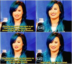 Demi Lovato talking about Miley Cyrus in an interview with Katie.