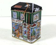 Vintage Tiny Tin Box, Emmett's Toy Shoppe and Curiositites