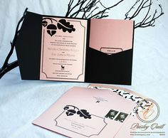Woodland Themed Wedding Invitations by Paisley Quill