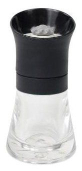 """Crushgrind Spice Mill, Black by T $16.99. British style - imported directly from England & not available elsewhere in the USA or Canada. Ceramic grinding mechanism - tested to 400 years domestic use equivalent. 5"""". Fully adjustable from fine to coarse grind through 12 settings. Lifetime Guarantee. Spice Mill With Black Top And Glass Base"""