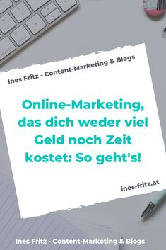 Online marketing for minimalists! - Ines Fritz - What do you really need to do good online marketing? The checklist for minimalists! Inbound Marketing, Affiliate Marketing, Marketing Trends, Marketing Pdf, Marketing Quotes, Facebook Marketing, Marketing And Advertising, Social Media Marketing, Business Marketing