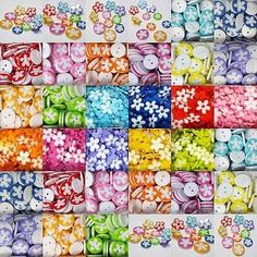 29 designs. #lovely flower #buttons. 12, 15 & 17mm. #colourful, bright, clothes,  View more on the LINK: http://www.zeppy.io/product/gb/2/281914124063/
