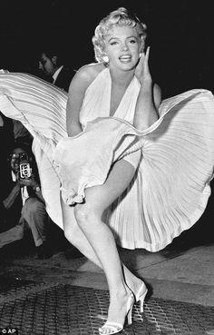 Marilyn Monroe  http://www.courtneyluv.com/marilyn-monroes-iconic-white-halter-dress-to-sell-for-2-million/