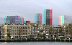 https://flic.kr/p/APsYXD | Noordereiland Rotterdam 3D | Hyper-stereo anaglyph red/cyan