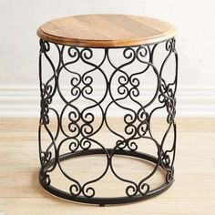 Accent Tables & End Tables Iron Furniture, Find Furniture, Plywood Furniture, Repurposed Furniture, Painted Furniture, Modern Furniture, Furniture Design, Metal End Tables, Console Tables