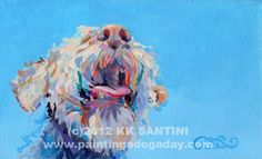 Blue Skies, painting by artist Kimberly Kelly Santini