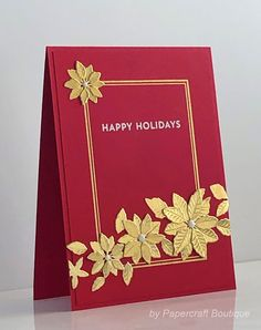 Papercraft Boutique: CAS Christmas July Challenge - happy holidays Modern Christmas, Plaid Christmas, Christmas Sentiments, Cas Christmas Cards, September Challenge, Poinsettia Cards, Old Letters, Email Form, Christmas Challenge