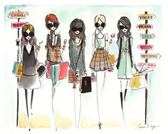 Fashion illustration print Fashion printFashion by diarysketches