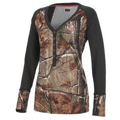 Under Armour® Women's Evo ColdGear® Realtree AP Camo Henley Shirt