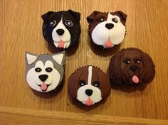 The first doggy cupcakes.  Border Collie, Churchill, Alaskan Malamute, Beagle, Labradoodle | Flickr - Photo Sharing!