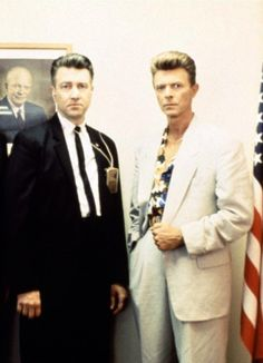 _A photo of David Lynch and David Bowie (now that's an interesting pair to draw to...!!!)