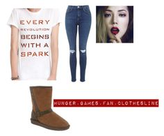 """""""Hunger games"""" by leyna-yost ❤ liked on Polyvore featuring Bearpaw"""