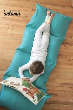 Use it as a bed, fold it up and use it as a chair, or turn it into a fort. This kid's pillow bed is sure to be a big hit with any kid on your list.  100 Days of Homemade Christmas Gifts at The Happy Housewife