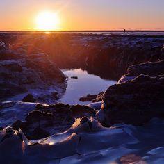 Sunset over the Anchorage Coastal Wildlife Refuge #Alaska