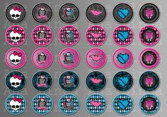 002 Monster High inspired digital paper pack for by AnaLinea
