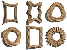 Pack Mirror Frame Desing. 18 HIGH QUALITY MODEL FOR CNC AND CARVING MACHINE  (Stl format) Wooden Art, Wooden Decor, Cnc Wood Carving, Decoupage Art, Beginner Woodworking Projects, Wood Mirror, Hobbies And Crafts, Entryway Decor, Wall Design