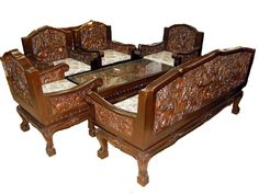 I'll never be able to afford carved 17th C furniture, so this modern Thai stuff might have to do.