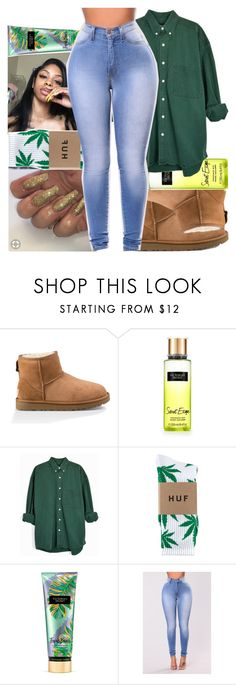 """Untitled #447"" by kklbarnes ❤ liked on Polyvore featuring UGG, Victoria's Secret and HUF"