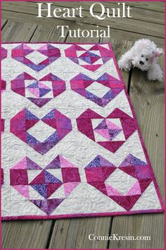 Baby Quilts Heart baby quilt tutorial is a perfect gift for a baby shower or Christmas Baby Quilt Tutorials, Quilting Tutorials, Quilting Projects, Quilting Designs, Sewing Projects, Heart Quilt Pattern, Baby Quilt Patterns, Quilting Patterns, Quilting Ideas