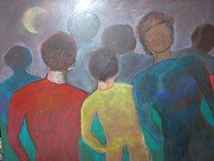"""Artista: Violeta L. M. de Tilmant Título: """"Serie Esperando respuesta III"""" Tamaño: 0,80 x 0,60 Técnica:Pintura, expresionista Lugar: Buenos Aires, Argentina Precio: 150 dólares"""