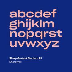 Sharp Grotesk by Lucas Sharp . Script Lettering, Typography Fonts, Font Art, Modern Typography, Graphic Design Typography, Lettering Design, Web Design, Logo Design, Type Design