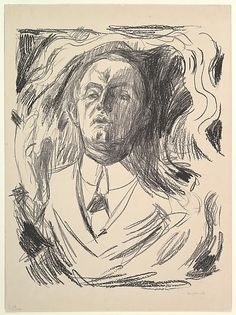 Self-Portrait with a Cigar, Edvard Munch, 1908-09