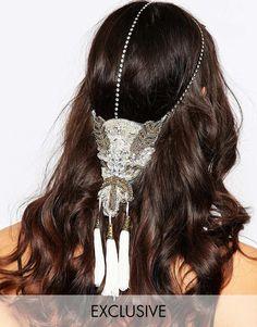 Olivia+&+The+Wolf+Beaded+Applique+Crystal+Halo+Headband