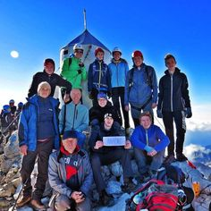 3 hikers from 6 different congregations went to Mt Triglav (2864m), the highest mountain of the Julian Alps in Slovenia. We had our own meeting at an altitude of 2332m. Next morning after examining daily text we went to the top. We enjoyed good company and amazing nature. Rev. 4:11.