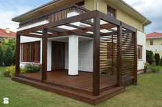 The pergola kits are the easiest and quickest way to build a garden pergola. There are lots of do it yourself pergola kits available to you so that anyone could easily put them together to construct a new structure at their backyard. Diy Pergola, Timber Pergola, Pergola Carport, Pergola Canopy, Pergola Swing, Deck With Pergola, Outdoor Pergola, Wooden Pergola, Covered Pergola