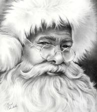 realistic santa drawing - Google Search