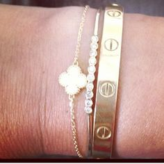 2 of my dreams on a wrist: van cleef arpels bracelet and the cartier love bracelet-v i found it have very cheap price on:http://www.cartiershops.com/