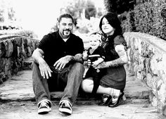 Tattooed Family Portrait Photography