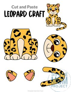Do your kids love tigers and cheetahs and lions? Then they are sure to love this leopard craft too! It is no Dr Seuss animal, but your preschooler or kindergartner student will have a blast piecing together this printable leopard template. Click and download yours today! Safari Animal Crafts, Jungle Crafts, Giraffe Crafts, Tiger Crafts, Animal Crafts For Kids, Safari Animals, Wild Animals, Animals For Kids, Safari Party
