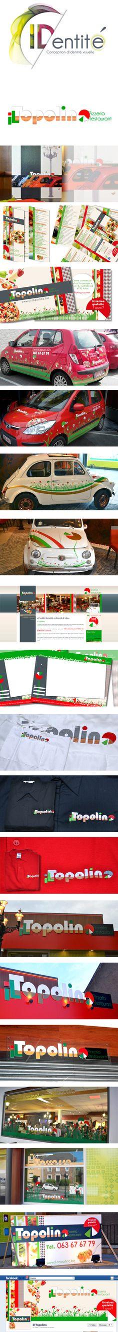 Une Identit Visuelle Complte Pour Le Restaurant Italien Il Topolino Logo Voiture Menus Vtements Personnaliss Dpliant Carte De Visite