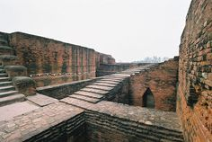 Nalanda (India). 'This 1600-year-old  university once enrolled 10,000  monks and students from as far  afi eld as China and Greece. You  can tell what a sophisticated  operation – and a lovely campus  – it was by the monasteries,  temples and stupas that  lie today, still elegant, in ruins.' http://www.lonelyplanet.com/india/bihar-and-jharkhand/bihar/sights/other/nalanda-ruins