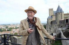 L'acteur britannique John Hurt (1940-2017) en 2011 sur la terrasse de l'Hôtel de la Cité à Carcassonne. Photo: Tandem Communications