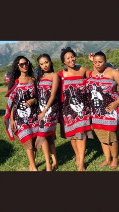 Swazi maidens #traditionalafricanfashion