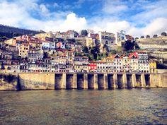 Colorful river side in Porto, Portugal💙