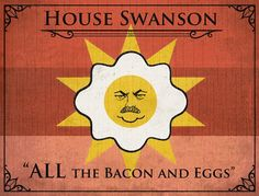 games, houses, ron swanson, parks, hous swanson, door, families, game of thrones, banners