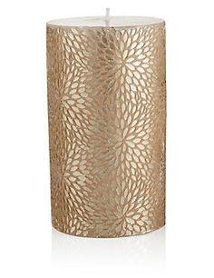 Medium Metallic Pillar Candle