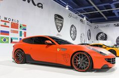 This colour scheme... Just WOW! Who else is in love with this Sleek Orange and Black Ferrari FF!