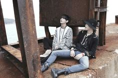 BTS I need u photoshoot Rapmonster and V