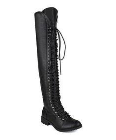 Look what I found on #zulily! Black Travis Over-the-Knee Boot #zulilyfinds