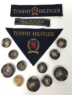 Tommy Hilfiger Sport Coat Jacket BUTTON SET Vintage And tags #TommyHilfiger