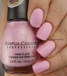 Sinful Colors Strawberry Milk | Be Happy And Buy Polish https://behappyandbuypolish.com/2017/01/10/sinful-colors-kandee-johnson-nail-polish-collection/