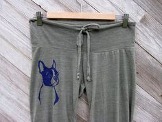 you handsome devil Boston Terrier Lounge Pants by nicandthenewfie, $30.00 @Donna Eschenbach Klender  and @Jordan Bromley Anthony