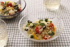 夏野菜とクスクスのサラダ